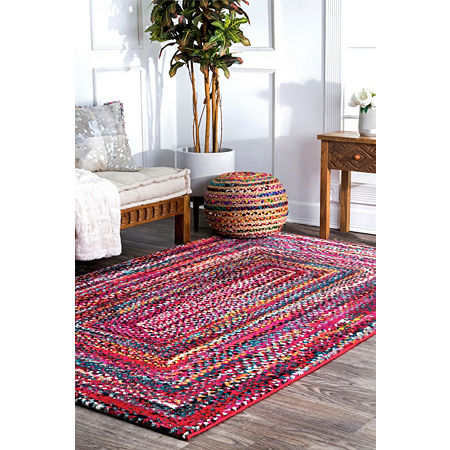nuLoom Hargis Labyrinth Area Rug, One Size , Red