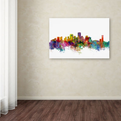 Trademark Fine Art Michael Tompsett New Orleans Louisiana Skyline Giclee Canvas Art