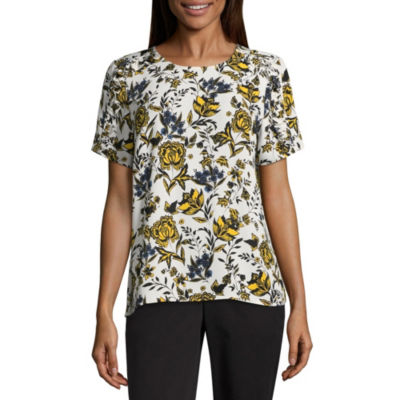 Liz Claiborne Ruffle Shoulder Top - Tall