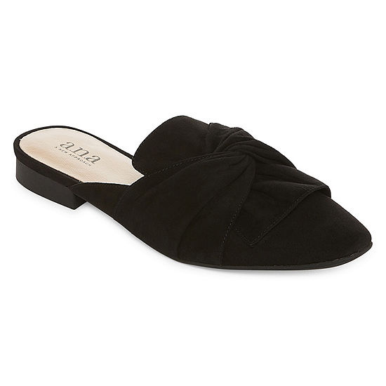 a.n.a Womens Shadow Ballet Flats Square Toe