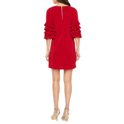 Danny & Nicole 3/4 Sleeve Shift Dress