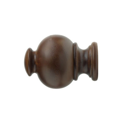 Kirsch Wood Trends - Button Ball 2-pack Curtain Rod Finials