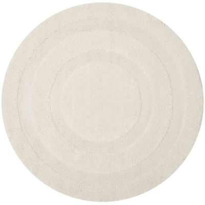 Safavieh Shag Collection Smith Solid Round Area Rug
