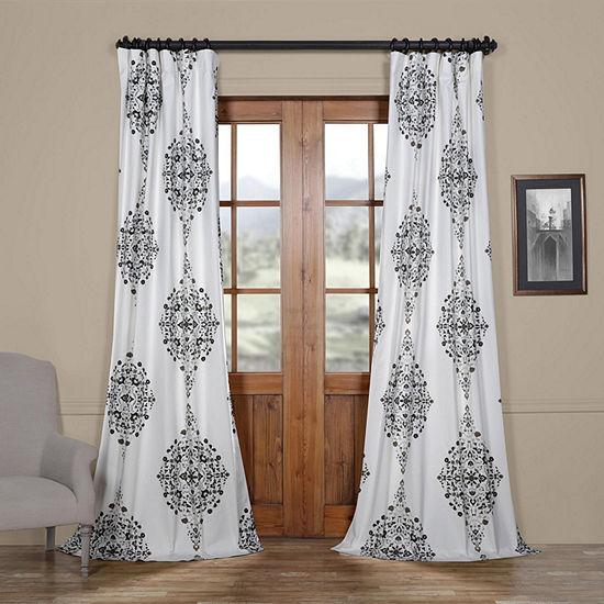Exclusive Fabrics & Furnishing Kerala Cotton Twill Rod-Pocket/Back-Tab Curtain Panel