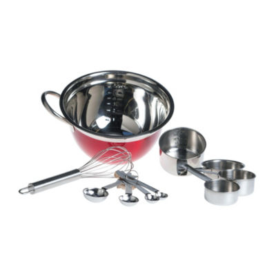 Basic Essential Stainless Steel Colors Measuring Cup+Spoons