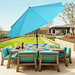 Pure Garden 10 ft. Aluminum Patio Umbrella with Auto Tilt