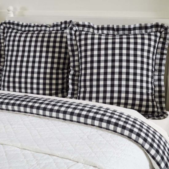 VHC Classic Country Farmhouse Bedding - Annie Buffalo Check Euro Sham
