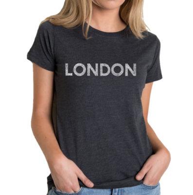 Los Angeles Pop Art Women's Premium Blend Word ArtT-shirt - LONDON NEIGHBORHOODS