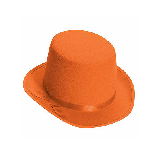 Deluxe Orange Top Hat Dress Up Accessory