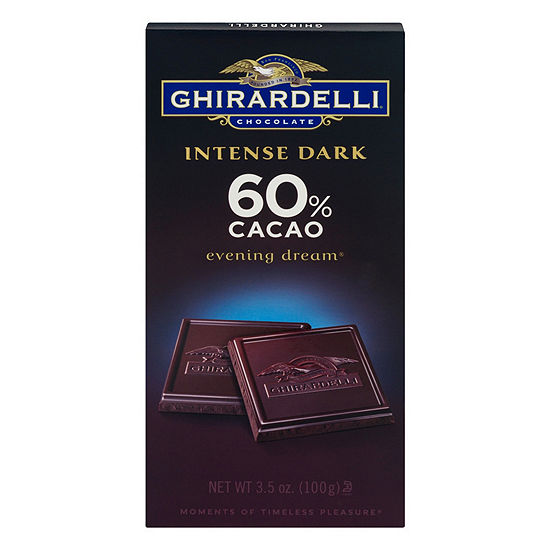 Ghirardelli Intense Dark Chocolate 60% Cacao Evening Dream - 3.5 oz - 12 Count