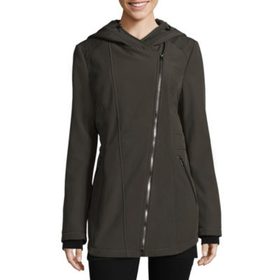 Liz Claiborne Hooded Water Resistant Lightweight Softshell Jacket