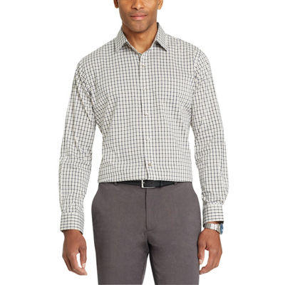 Van Heusen Long Sleeve Checked Button-Front Shirt