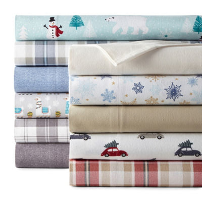 North Pole Trading Co. Flannel Sheet Sets