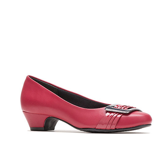 02c4043c126 Hush Puppies Womens Pleats Be With You Pumps Slip-on Round Toe Cone Heel -  JCPenney