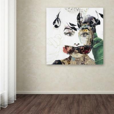 Trademark Fine Art Ines Kouidis Audrey Giclee Canvas Art