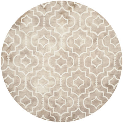 Safavieh Dip Dye Collection Devnet Geometric Round Area Rug