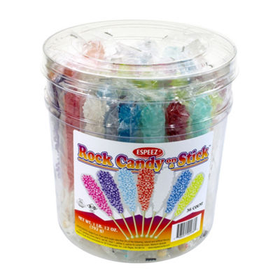 Assorted Rock Candy Sticks 36 Count