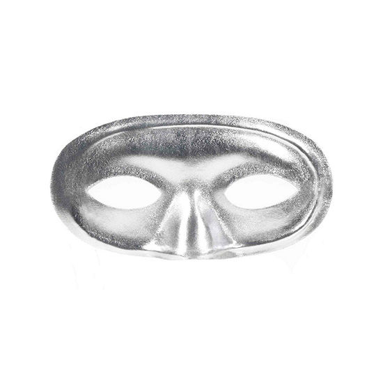 Domino Mask Silver Dress Up Accessory