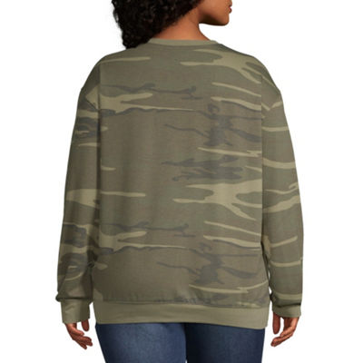 Camo Sweatshirt - Juniors Plus