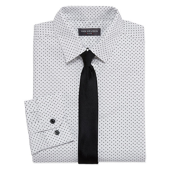 f5ef89a5cd84e7 Van Heusen Shirt + Tie Set Boys JCPenney