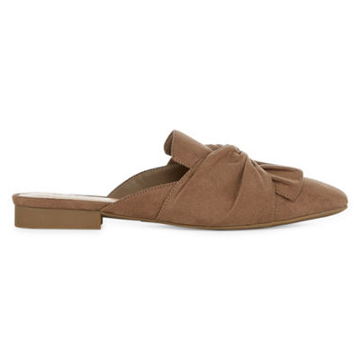 a.n.a Womens Shadow Ballet Flats Slip-on Square Toe