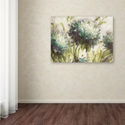 Trademark Fine Art Lisa Audit Hydrangea Field Giclee Canvas Art