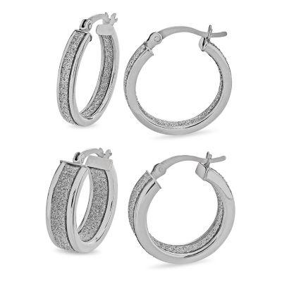 2 Pair Sterling Silver Earring Set