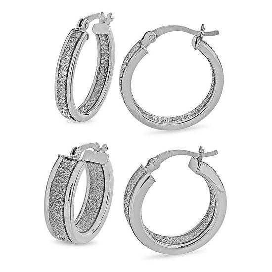 Sterling Silver 2 Pair Earring Set