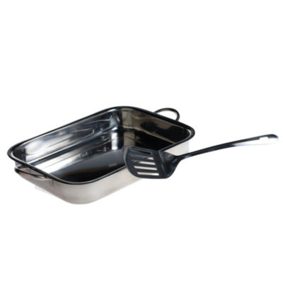 Basic Essentials Stainless Steel 2-pc. Meatloaf Pan