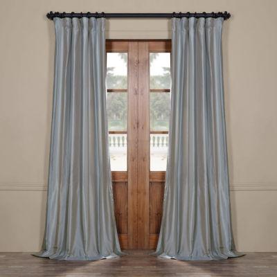 Exclusive Fabrics & Furnishing Eaton Luxury Faux Silk Stripe Rod-Pocket/Back-Tab Curtain Panel