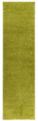 World Rug Gallery Soft Cozy Solid Shag Runner Rug