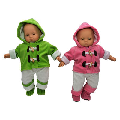 The Queen's Treasures 2-pc. 15 Inch Baby Doll Twin Overall Outfits