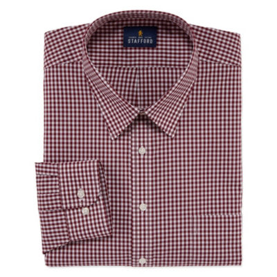 Stafford Travel Stretch Performance Super Shirt Big And Tall Mens Point Collar Long Sleeve Wrinkle Free Stretch Dress Shirt