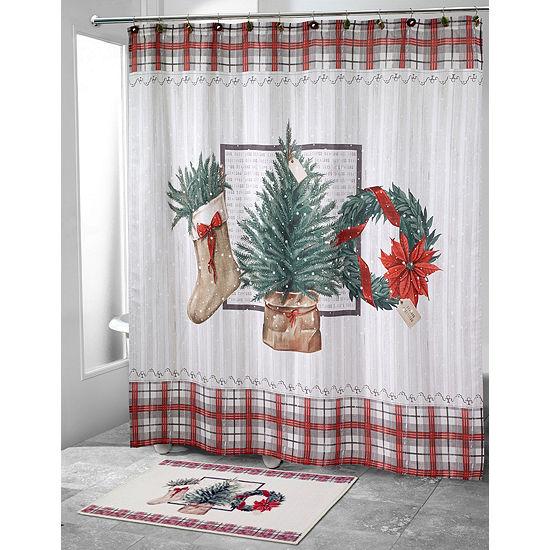 Avanti Farmhouse Holiday Shower Curtain