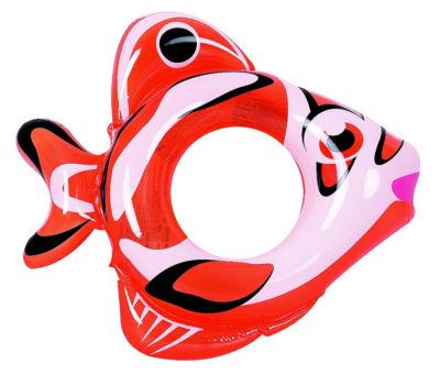 RhinoMaster Play Adventurous Fish - Inflatable Swim Ring - Orange