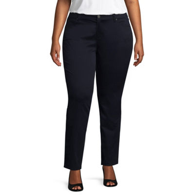 Arizona Womens Low Rise Slim Pant-Juniors Plus