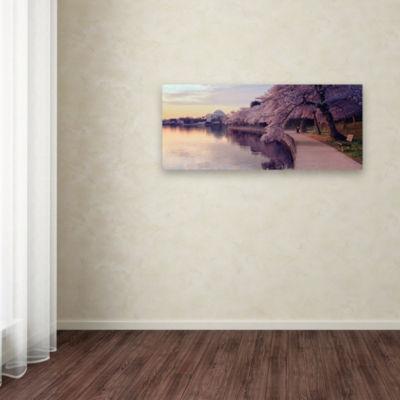 Trademark Fine Art Gregory O'Hanlon Cherry Blossoms Jefferson Memorial Giclee Canvas Art