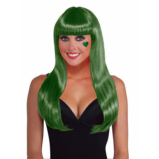 Green Wig Dress Up Accessory