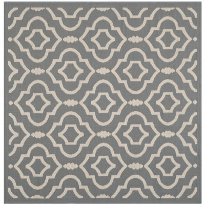 Safavieh Courtyard Collection Meryll Geometric Indoor/Outdoor Square Area Rug