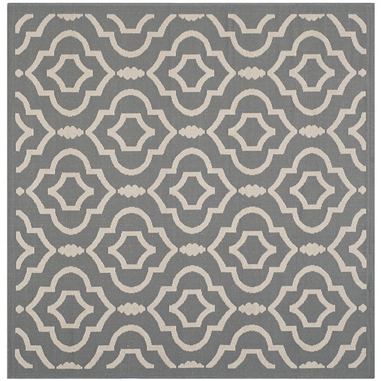 Safavieh Courtyard Collection Meryll Geometric Indoor Outdoor Square Area Rug
