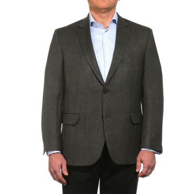 Jean Paul Germain Wool Herringbone Sportcoat - Portly