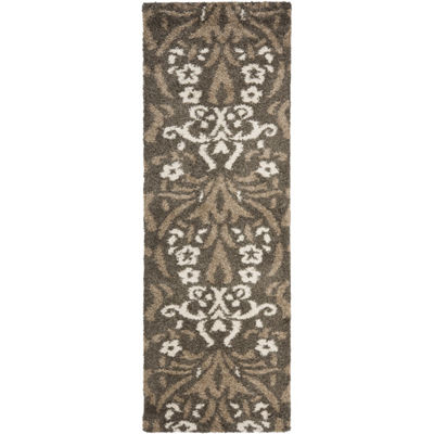 Safavieh Shag Collection Tristen Floral Runner Rug