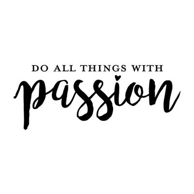 New View New View Passion Wall Letters Wall Decal