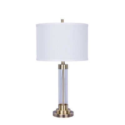 Fangio Lighting's 28 inch Metal & Clear Glass Table Lamp