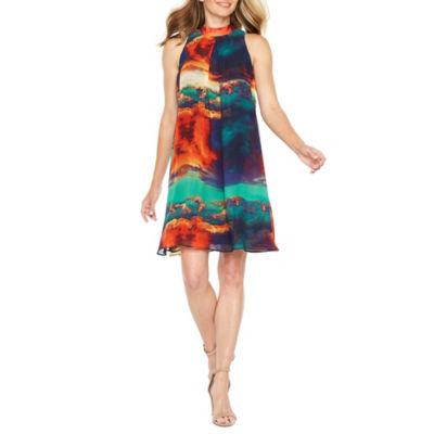 Robbie Bee Sleeveless Trapeze Dress