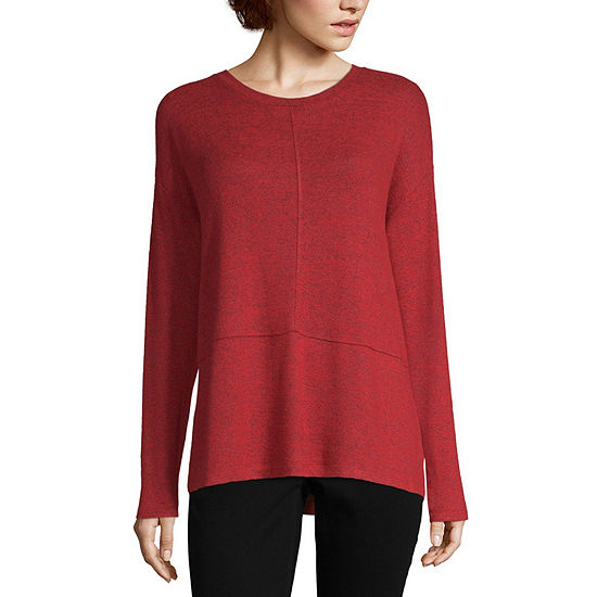 Liz Claiborne Long Sleeve Seamed Tee - JCPenney ff02a8c36