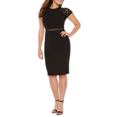 Premier Amour Short Sleeve Sheath Dress