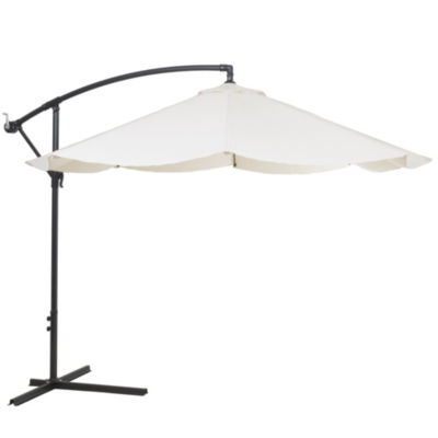 Pure Garden Offset 10 Ft. Aluminum Hanging Patio Umbrella