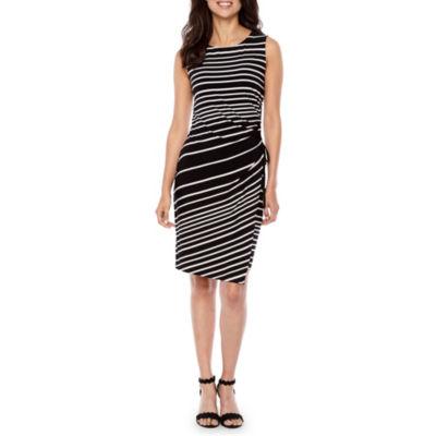 Studio 1 Sleeveless Stripe Sheath Dress