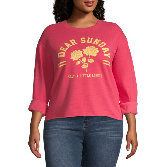 """Dear Sunday"" Sweatshirt - Juniors Plus"
